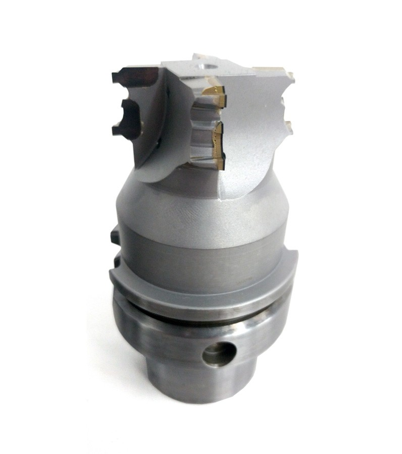 PCD round tools used to machine an Aliminium differential housing in the automotive industry.
