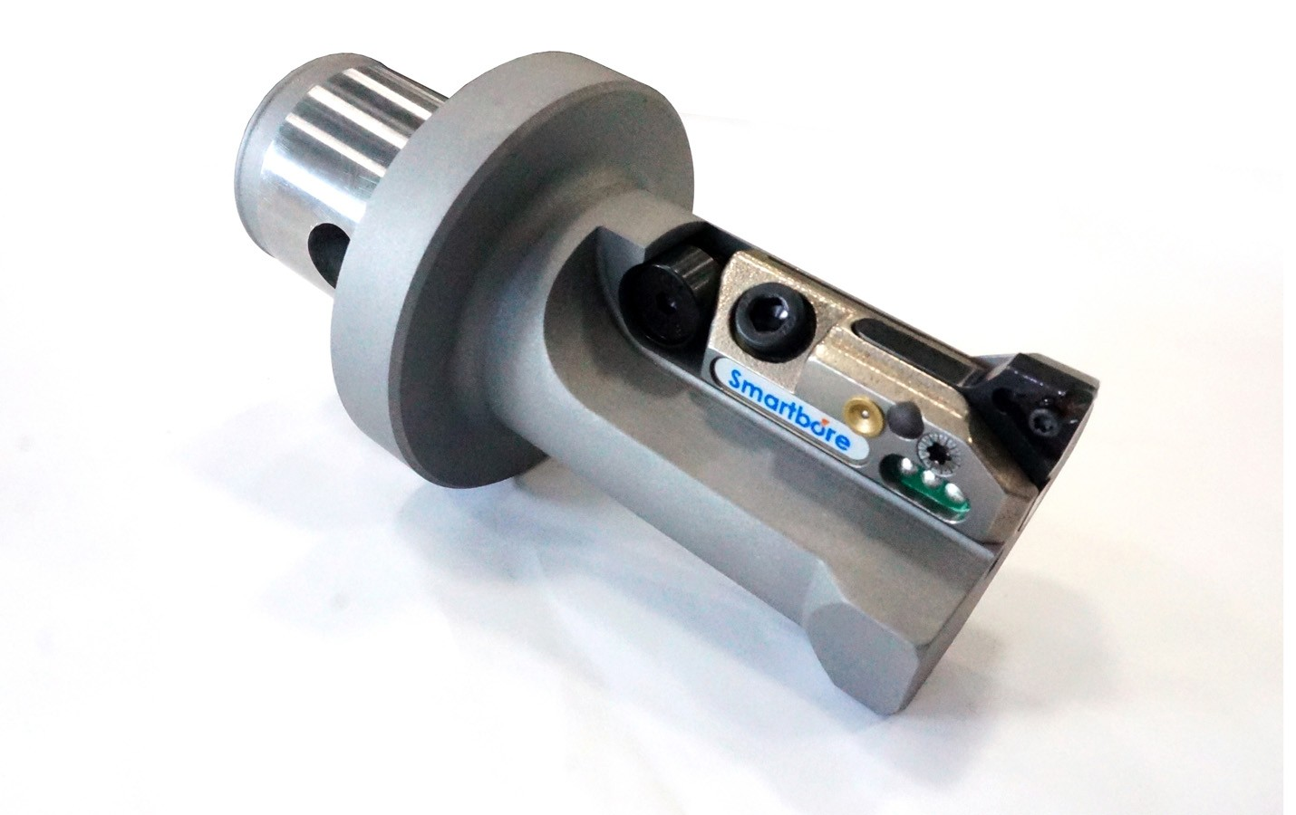 Smartbore finishing tool used to machine precision tolerances on an Aerospace component